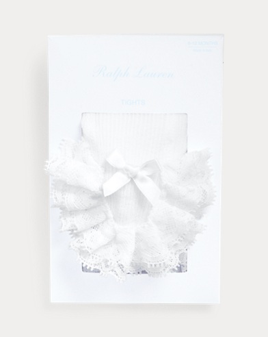 Ruffled Cotton-Blend Tights