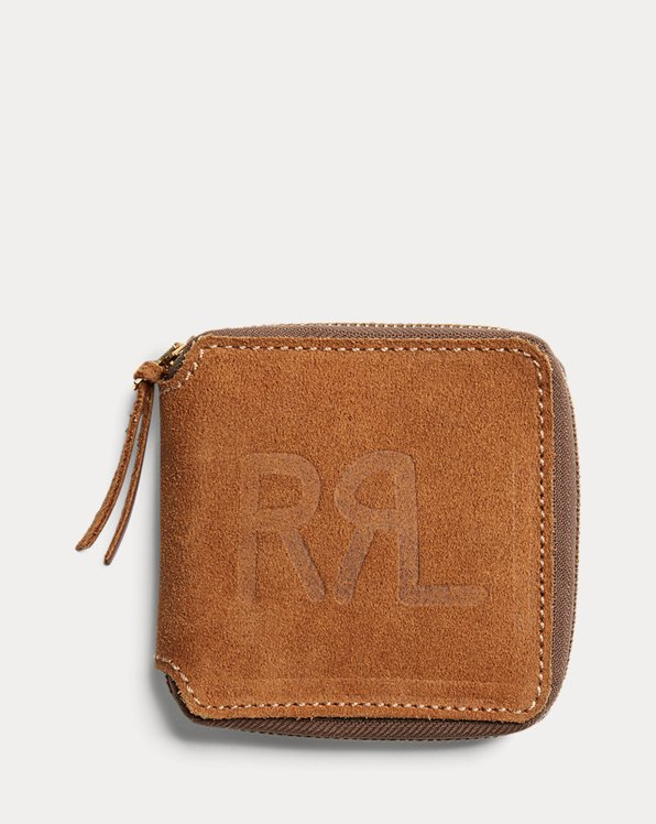 Roughout Leather Zip Wallet