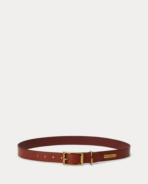 c5b50196d0311 Polo Ralph Lauren Brass-Buckle Leather Belt 1