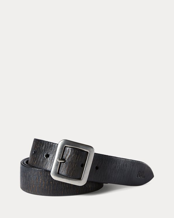 Hand-Burnished Leather Belt