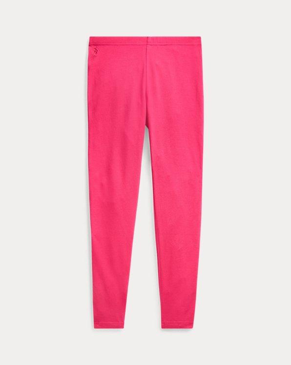 폴로 랄프로렌 걸즈 레깅스 Polo Ralph Lauren Bow-Back Jersey Legging,Sport Pink