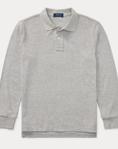 Boys' Cotton Mesh Polo Shirt