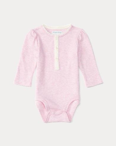Baby Girl Henley Bodysuit