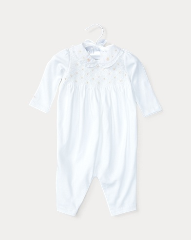 Smocked Pima Cotton Coverall