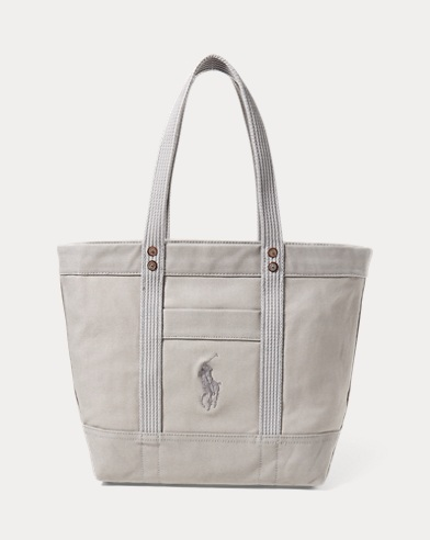 Bags. Canvas Big Pony Tote. Polo Ralph Lauren