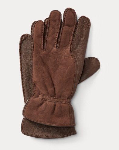 Leather-Shearling Gloves