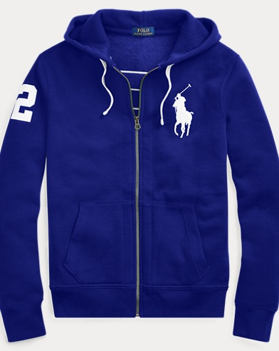 Cotton-Blend-Fleece Hoodie