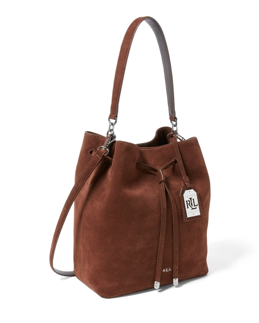 b55536635e19 Lauren Suede Debby Drawstring Tote 3