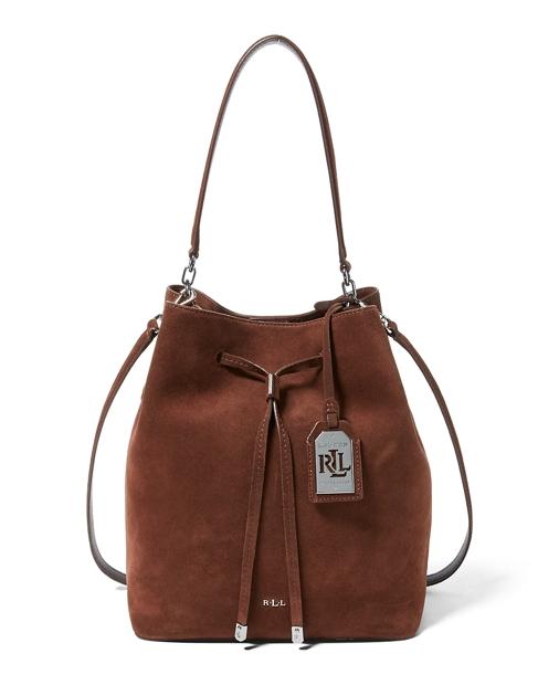 Suede Debby Drawstring Tote | Hobos \u0026 Shoulder Bags Handbags | Ralph Lauren