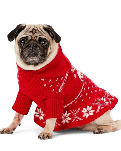 Reindeer Shawl Dog Sweater Apparel The Pup Shop Ralph Lauren
