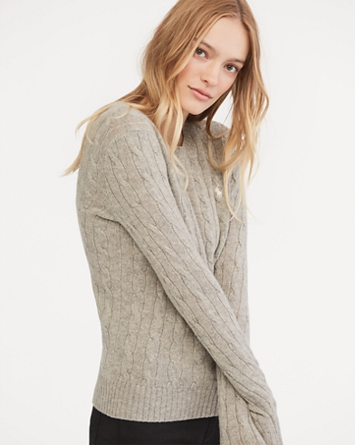 Cable Wool Crewneck Sweater