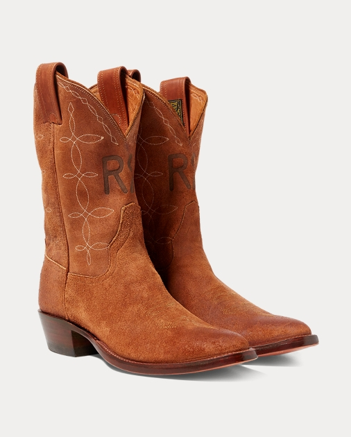 277a6c224d7 Plainview Suede Cowboy Boot | Boots Shoes | Ralph Lauren