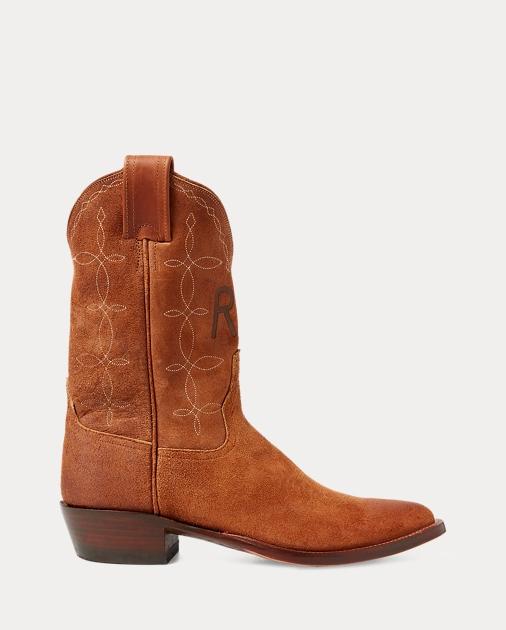 974a57bae RRL Plainview Suede Cowboy Boot 1