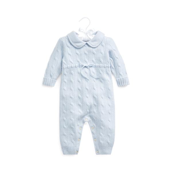 폴로 랄프로렌 Polo Ralph Lauren Cashmere Knit Collar Coverall,Pearl Blue