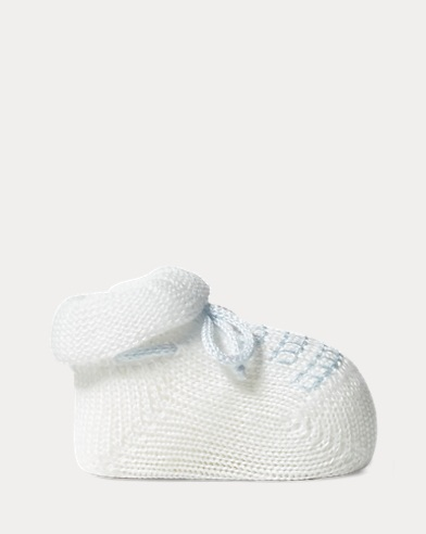 Embroidered Cotton Booties