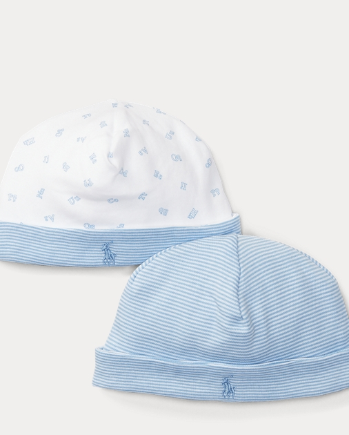 7ba76e72aad Baby Boy Cotton Interlock Beanie 2-Pack 1