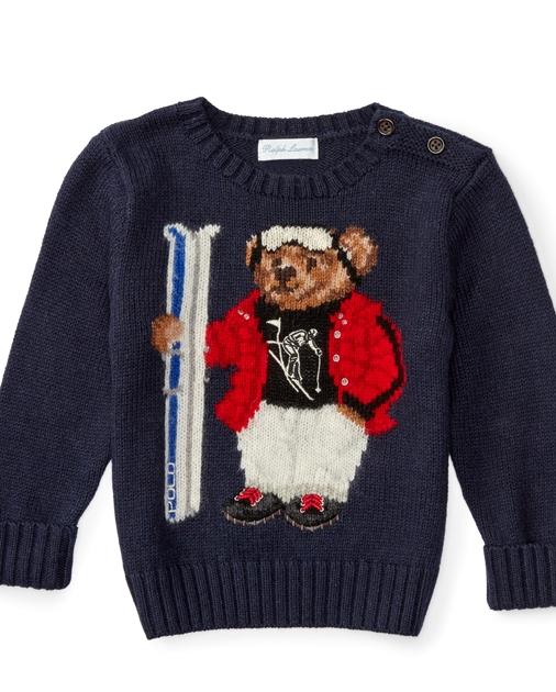 9e9780650425 Baby Boy Polo Bear Cotton Sweater 1