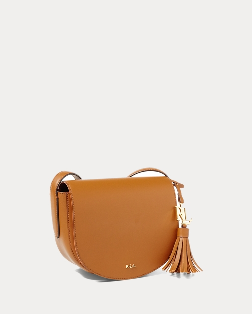 7ada87933788 Lauren Leather Mini Caley Saddle Bag 3