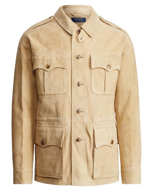37a57127ee967 Polo Ralph Lauren Suede Safari Jacket 1