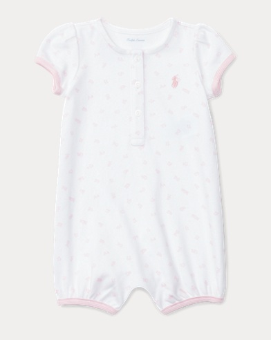 Alphabet-Print Cotton Shortall