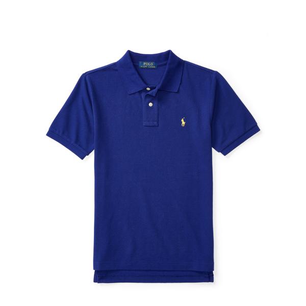 Ralph Lauren Cotton Mesh Polo Shirt Royal Marine M