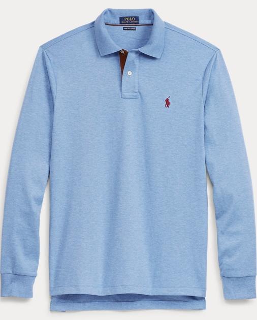 eeab14bcb438 Custom Fit Long-Sleeve Polo | Custom Slim Polo Shirts | Ralph Lauren