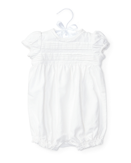 1d1915c18b Pleated Linen-Cotton Shortall   One-Pieces BABY GIRL (0-24 months ...