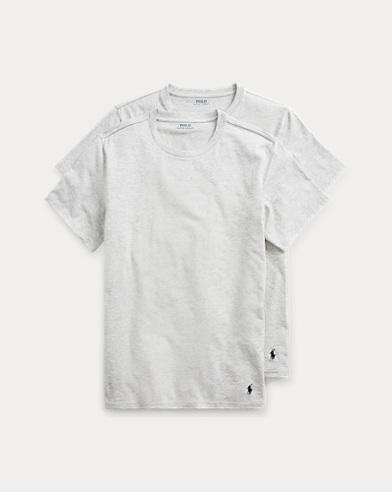 Lot de deux t-shirts à col rond