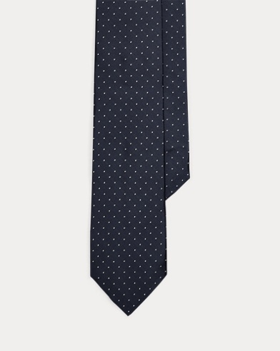 Pin Dot Silk Narrow Tie