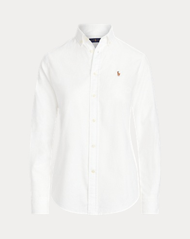 Camisa Oxford slim fit de algodón