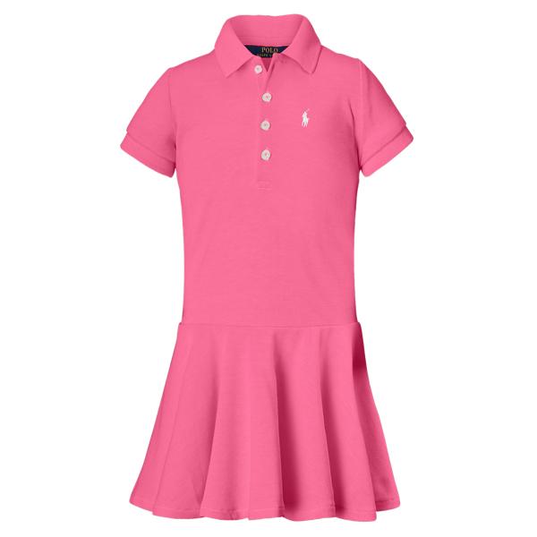 Ralph Lauren Girls' Polo Dress Desert Pink 2T