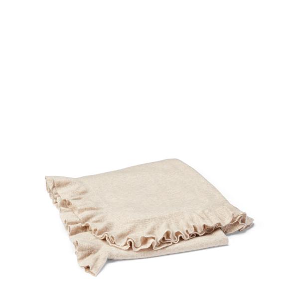 Ralph Lauren Whitney Cashmere Throw Blanket Flax 60
