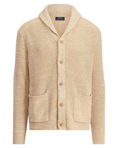 Polo Ralph Lauren Cotton-Linen Shawl Cardigan 1 da93d0cfd