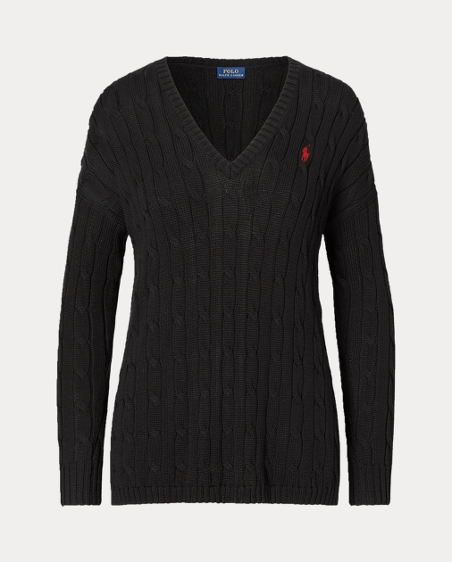 Polo Ralph Lauren Cable-Knit Side-Slit Sweater 2