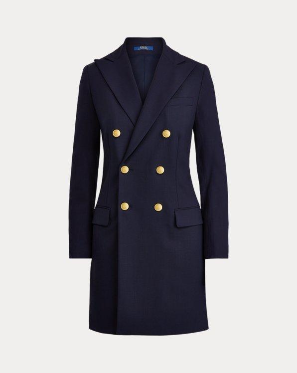 Manteauen laine coupe croisée