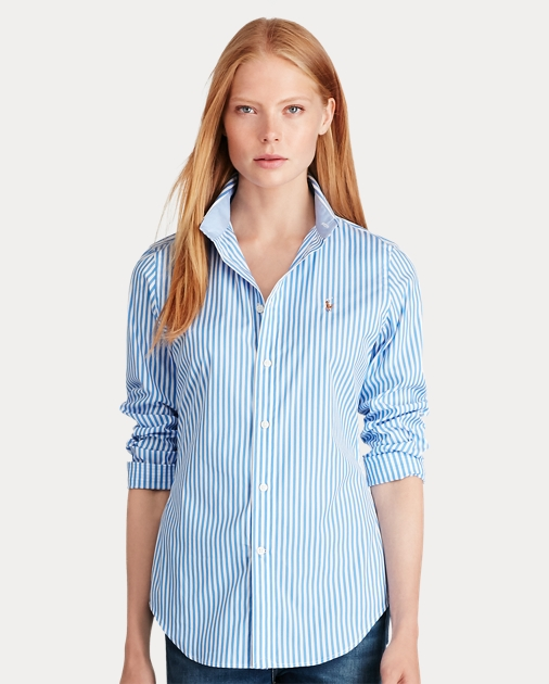 18db6e47 Stretch Slim Fit Striped Shirt | Button Downs Shirts & Tops | Ralph ...