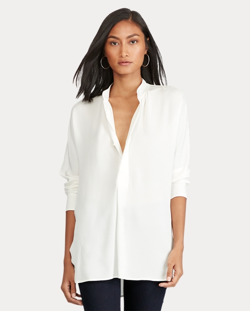 0c3270c807cc03 Polo Ralph Lauren Silk Georgette Shirt 2