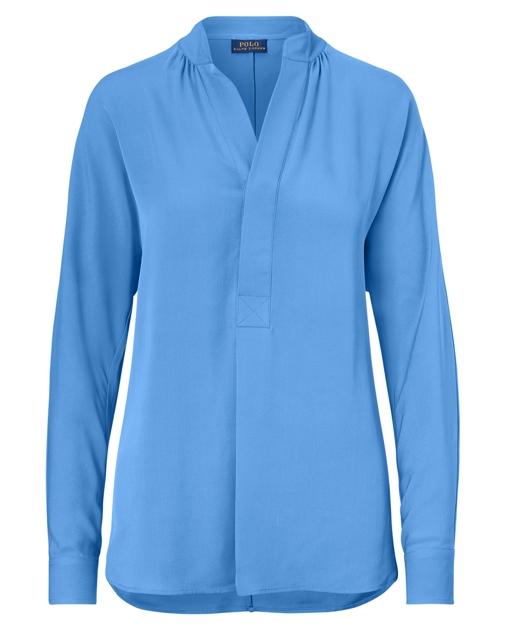 1c4619c2f69555 Polo Ralph Lauren Silk Georgette Shirt 1