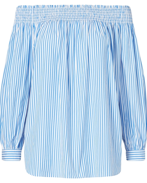 940644f0ff9eb Polo Ralph Lauren Striped Off-the-Shoulder Top 1
