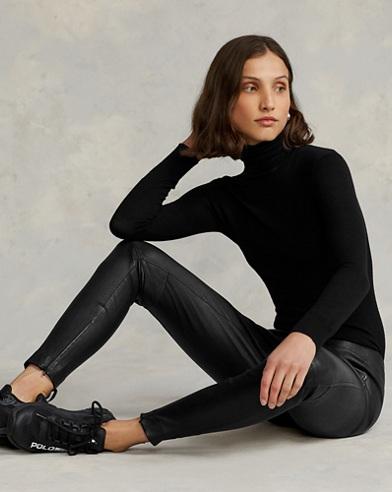 Pantaloni skinny in pelle