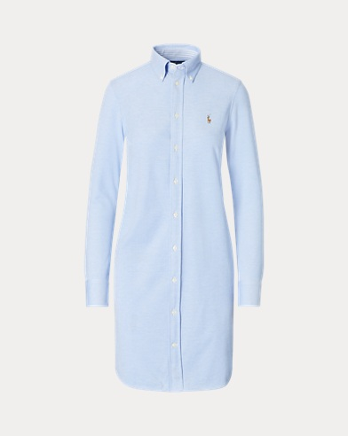 Knit Oxford Shirtdress
