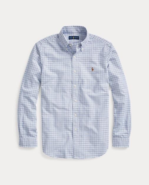 35030605fc6a Polo Ralph Lauren Classic Fit Plaid Oxford Shirt 1