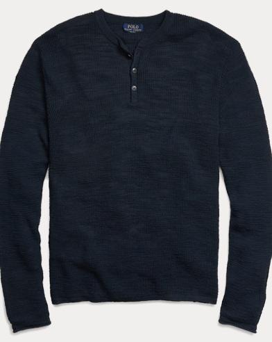 Custom Fit Cotton-Linen Henley