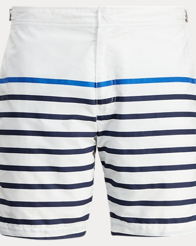 Polo Ralph Lauren. 8½-Inch Kailua Swim Trunk. $65.00. 7-Inch Monaco Striped  Trunk
