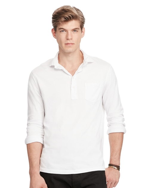 Shirts Cotton Jersey ShirtClassic Fit Ralph Polo Lauren Popover 0Pnwk8O