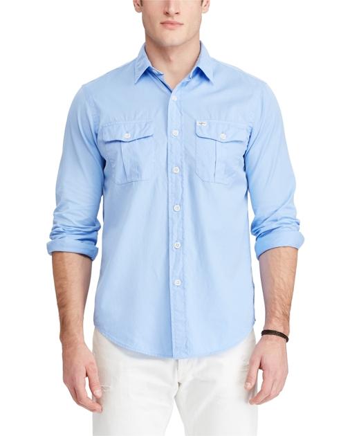 Fit Twill Shirts Casual Beach Ralph Standard ShirtClassic PkOXn0w8