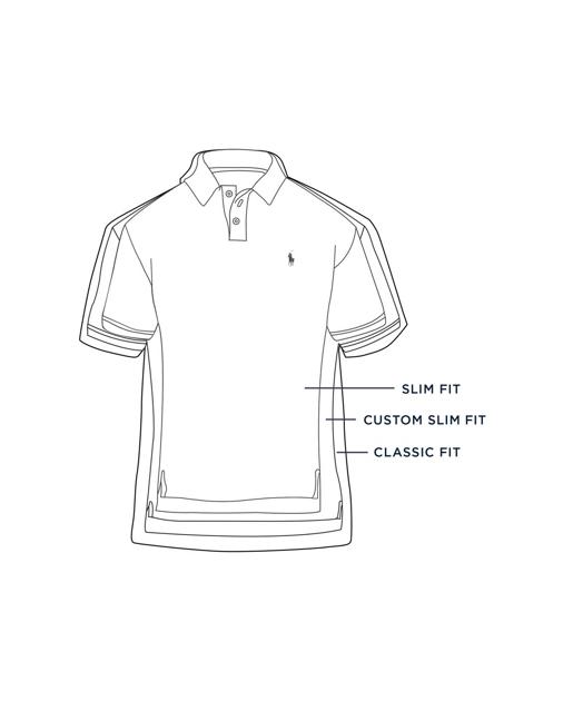 016054b6 Slim Fit Mesh Polo Shirt   Custom Slim Polo Shirts   Ralph Lauren