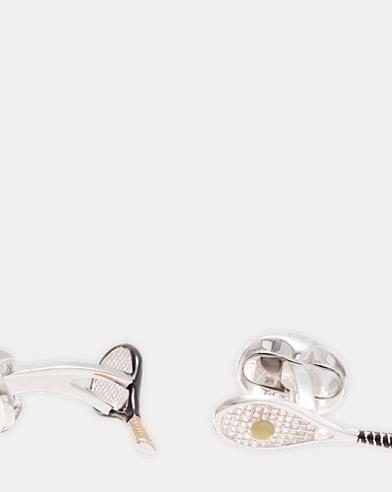 Silver Racquet Cuff Links
