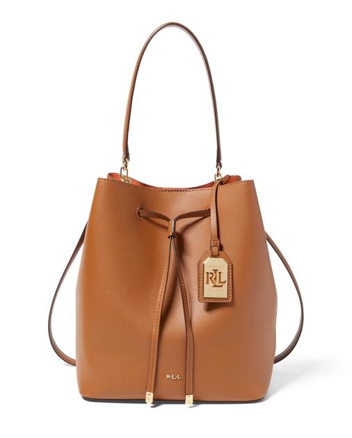 0d03bb182c Lauren Leather Debby Drawstring Bag 1