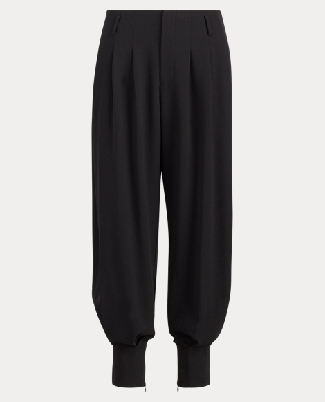 Crepe Tapered-Leg Trouser